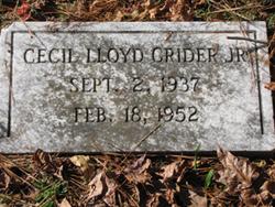 Cecil LLoyd Crider, Jr