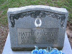 Harriett Elizabeth Hattie <i>Tidwell</i> Pilgram