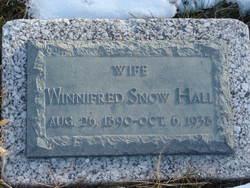Winnifred Irene <i>Snow</i> Hall