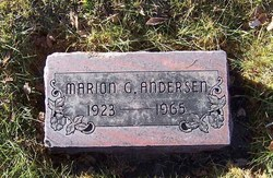 Marion G. <i>Gibbon</i> Andersen
