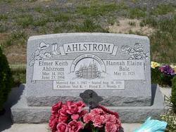 Hannah Elaine <i>Bale</i> Ahlstrom