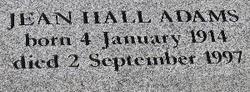 Jean <i>Hall</i> Adams