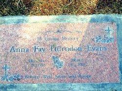 Anna Fay <i>Hurndon</i> Evans