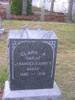 Clara A Baker