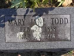 Mary Narcissis Jane, Sis <i>Vaughan</i> Todd