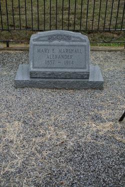 Mary E <i>Marshall</i> Alexander