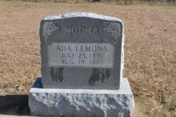 Ada Lee <i>Morrow</i> Lemons