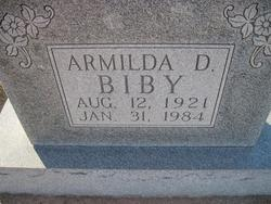 Armilda D <i>Schroeder</i> Biby