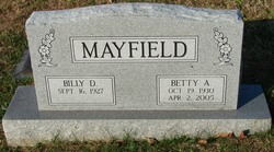 Betty A <i>Kelley</i> Mayfield