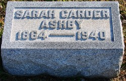 Sarah <i>Carder</i> Ashby