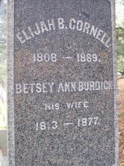 Betsey Ann <i>Burdick</i> Cornell