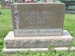 Clara Max <i>Applegate</i> Clark