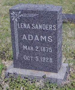 Lena <i>Sanders</i> Adams