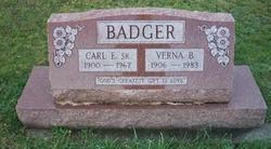 Carl E Badger, Sr