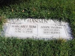 Margaret <i>Seim</i> Hansen