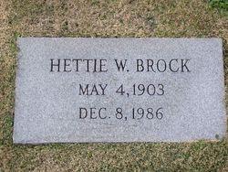Hettie W Brock