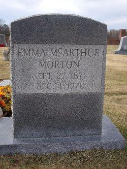 Emma <i>McArthur</i> Morton