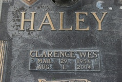Clarence Wes Haley