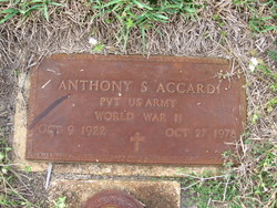 Pvt Anthony S Accardi