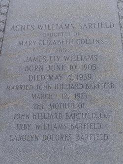 Agnes <i>Williams</i> Barfield