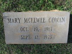 Mary <i>McElwee</i> Cowan