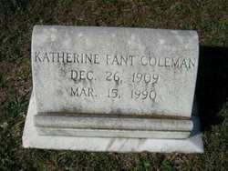 Katherine <i>Fant</i> Coleman