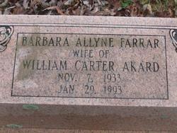 Barbara Allyne <i>Farrar</i> Akard