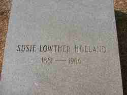 Susie Belle <i>Lowther</i> Holland