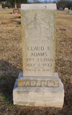 Claude F Adams