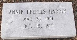 Annie <i>Peeples</i> Hardin