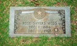 Rose <i>Sayers</i> Moss