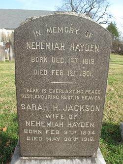 Sarah H. <i>Jackson</i> Hayden