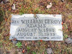 Rev William Leroy Adams