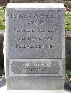 Dorothea Winslow <i>Randolph</i> Berkeley