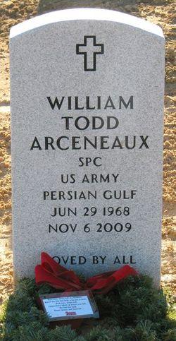 Spec William Todd Arceneaux, Sr