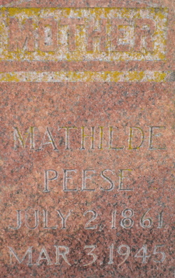 Mathilda <i>Gellermann</i> Peese