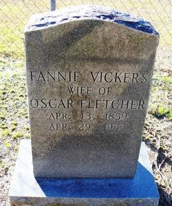 Fannie <i>Vickers</i> Fletcher