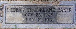 L Idean <i>Strickland</i> Baker