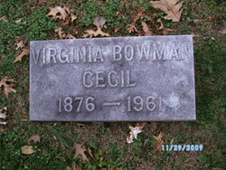 Virginia <i>Bowman</i> Cecil