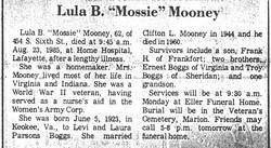 Lula Boggs Mossie <i>Boggs</i> Mooney