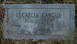 Lucretia or Loucresa <i>Roller</i> Cargile