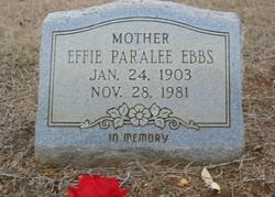 Effie Paralee Ebbs