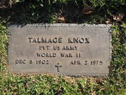 Pvt Talmage Knox