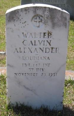 Walter Calvin Alexander
