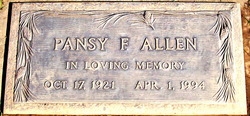 Pansy Fay <i>Young</i> Allen