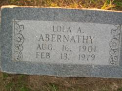 Lola A. <i>Smith</i> Abernathy