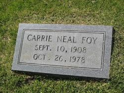 Carrie Neal <i>Hardeman</i> Foy