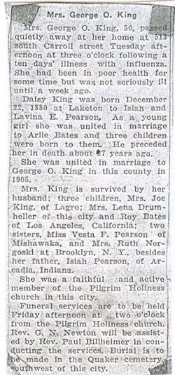 Daisy Alice <i>Pearson</i> King