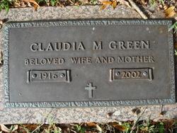 Claudia M Green