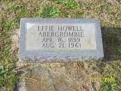 Effie <i>Howell</i> Abercrombie